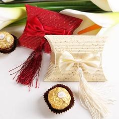 Elegant Kissen Geschenkboxen mit Quasten (Satz von 12)
