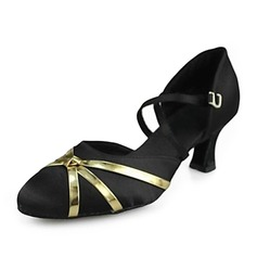 Satin Heels Sandals Modern Ballroom Dance Shoes (053013201)