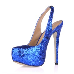 Sprankelende Glitter Stiletto Heel Pumps Plateau Closed Toe schoenen