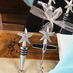 Chrome Starfish Wine Opener and Stopper Set (052013733)
