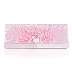Elegant Silk with Crystal Evening Handbag/Clutches(More Colors) (012024675)