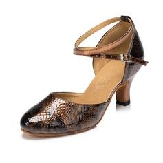 De mujer Cuero Salón Moderno con Tira de tobillo Zapatos de danza