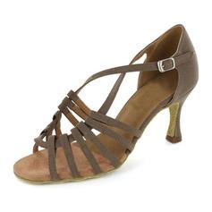 Women's Nubuck Heels Sandals Latin Dance Shoes