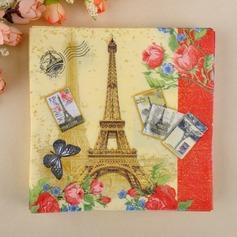Eiffel-torni Suunnittelu Illallinen Lautasliinat (Sarja 20)