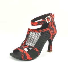 De mujer Encaje Tacones Sandalias Danza latina con Tira de tobillo Zapatos de danza