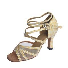 De mujer Cuero Tacones Salón Danza latina con Tira de tobillo Zapatos de danza