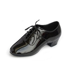 Women's Kids' Leatherette Heels Ballroom With Lace-up Dance Shoes