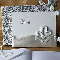 Double Hearts Wedding Guest Book In Resin(101018144)
