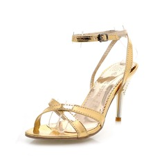 Patent Leather Stiletto Heel Sandals (087023669)