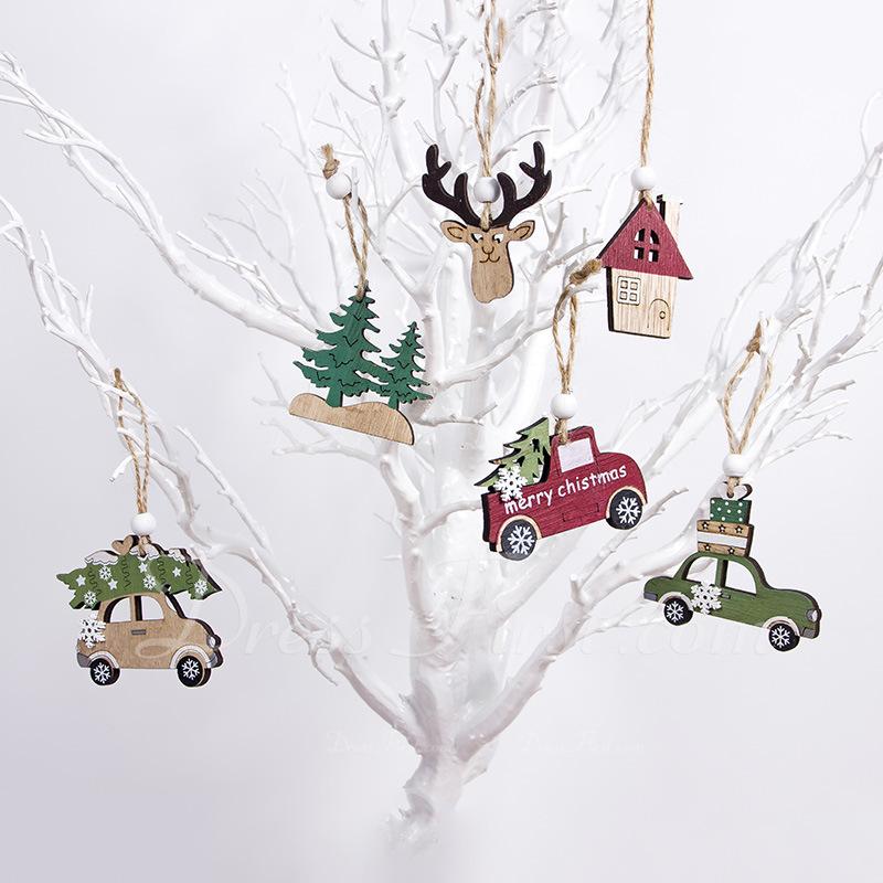 Noël en bois Décoration de maison ( ensemble de 3)