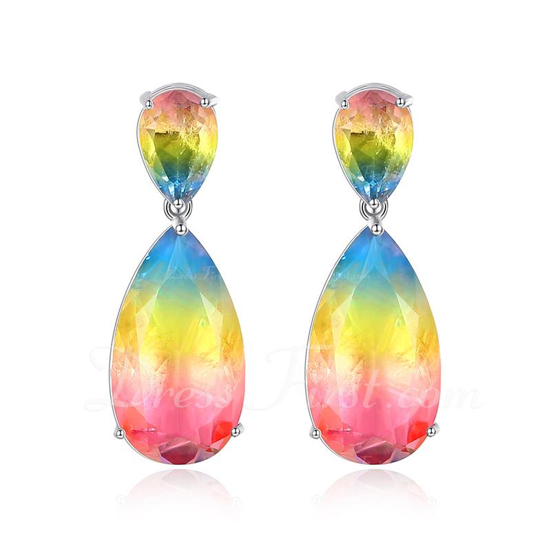 Exquisite Zircon Copper With Zircon Women's Fashion Earrings (Sold in a single piece)