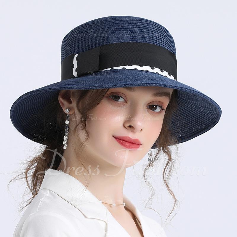 Señoras' Simple/Fantasía Papiro Sombrero de paja/Sombreros Playa / Sol