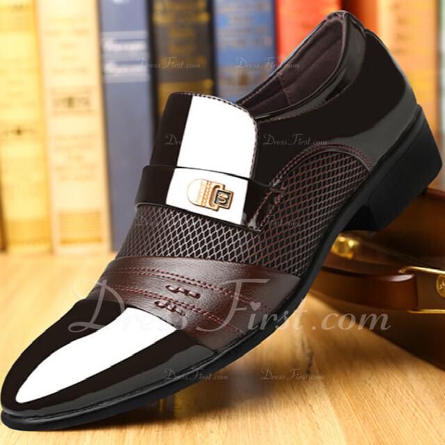 c5db99f2 Cargando. Color De: Marrón. Hombres Cuero Centavo Mocasines Casual Trabajo  Zapatos ...