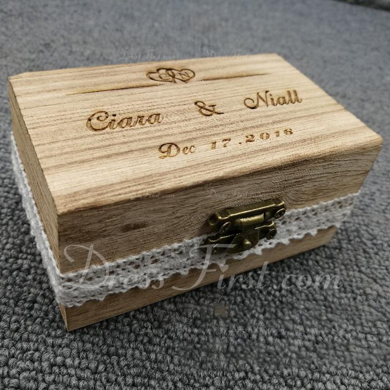 Элегантные/Шик/Классический Коробка кольца в Дерево