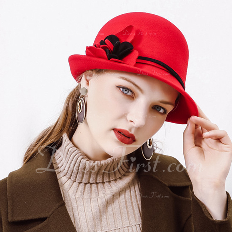 Ladies' ファッション/クラシック/かわいい/ロマンチック ウール フロッピー帽子
