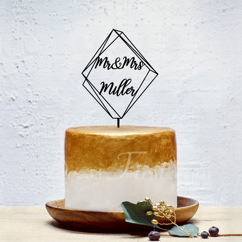 personalizované Classic pár/Mr. & Mrs. Akryl Ozdoby na dort