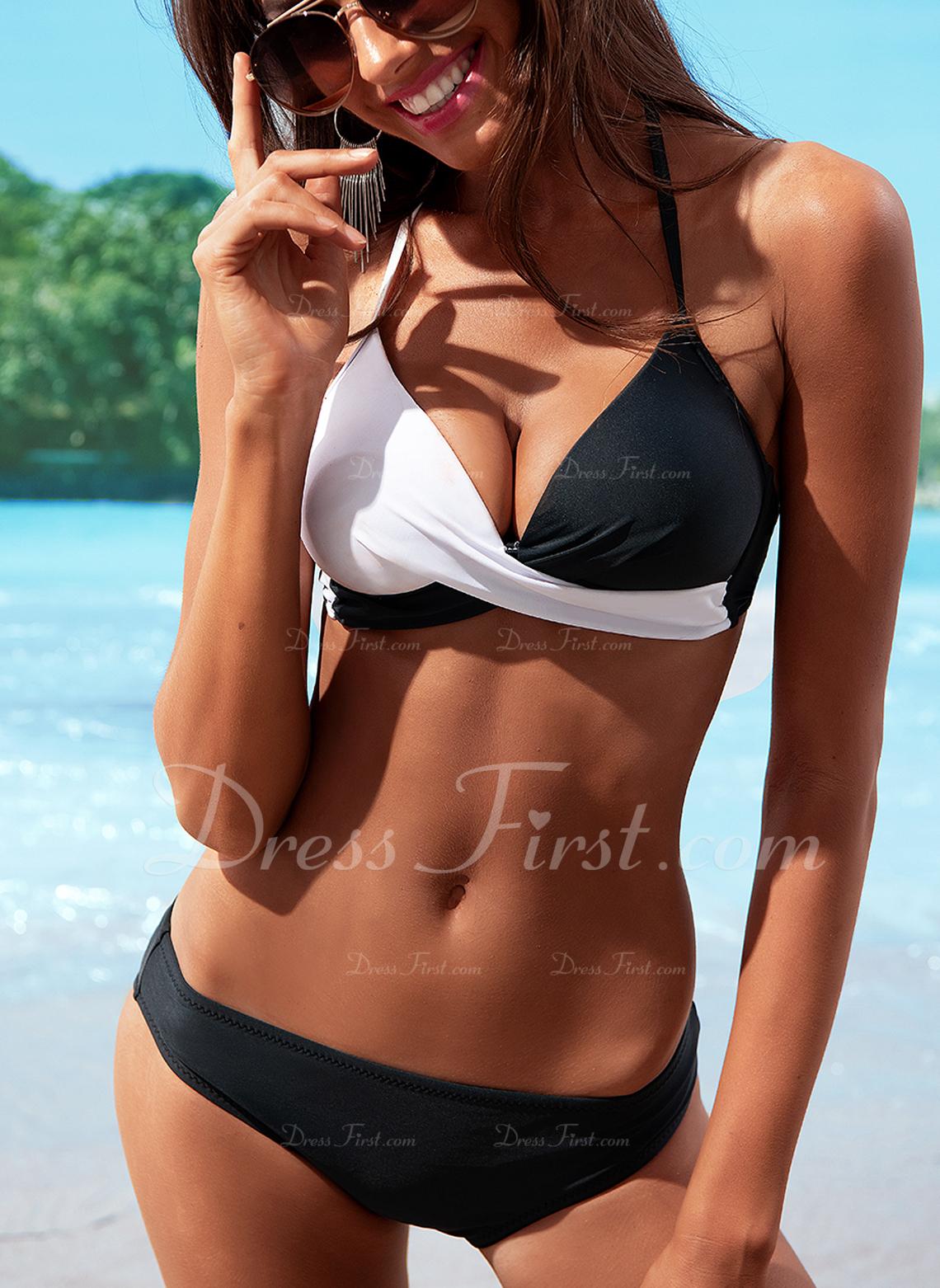 Bikinis Chinlon Trójkąt Dla kobiet tak Stroje kąpielowe
