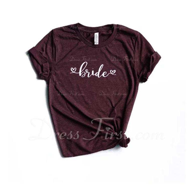 Regalos De La Novia - Lona Estilo Simple Poliéster Camiseta