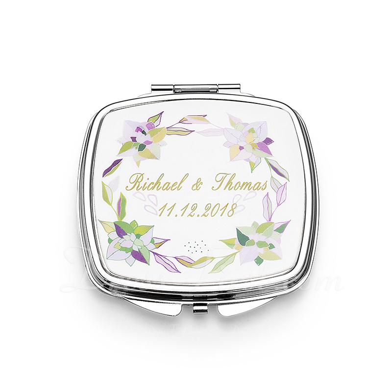 花嫁のギフト - 個別の 可愛い ステンレス鋼 コンパクトミラー