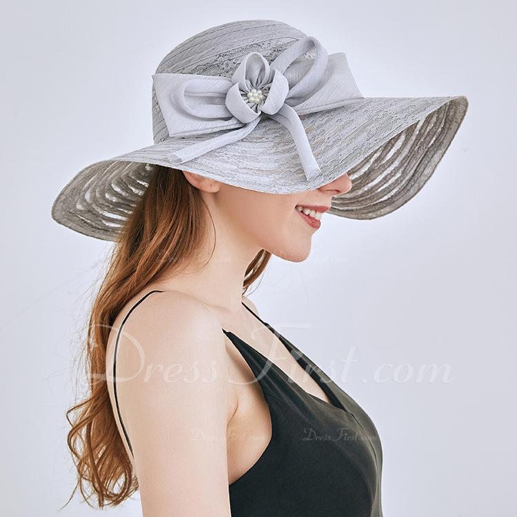 Señoras' Estilo clásico/Elegante Encaje con Bowknot Sombreros Playa / Sol