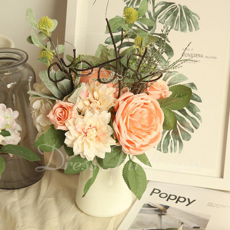 """Enkel/Fin """"Vakker blomst"""" Plast/Klut Kunstige Blomster"""