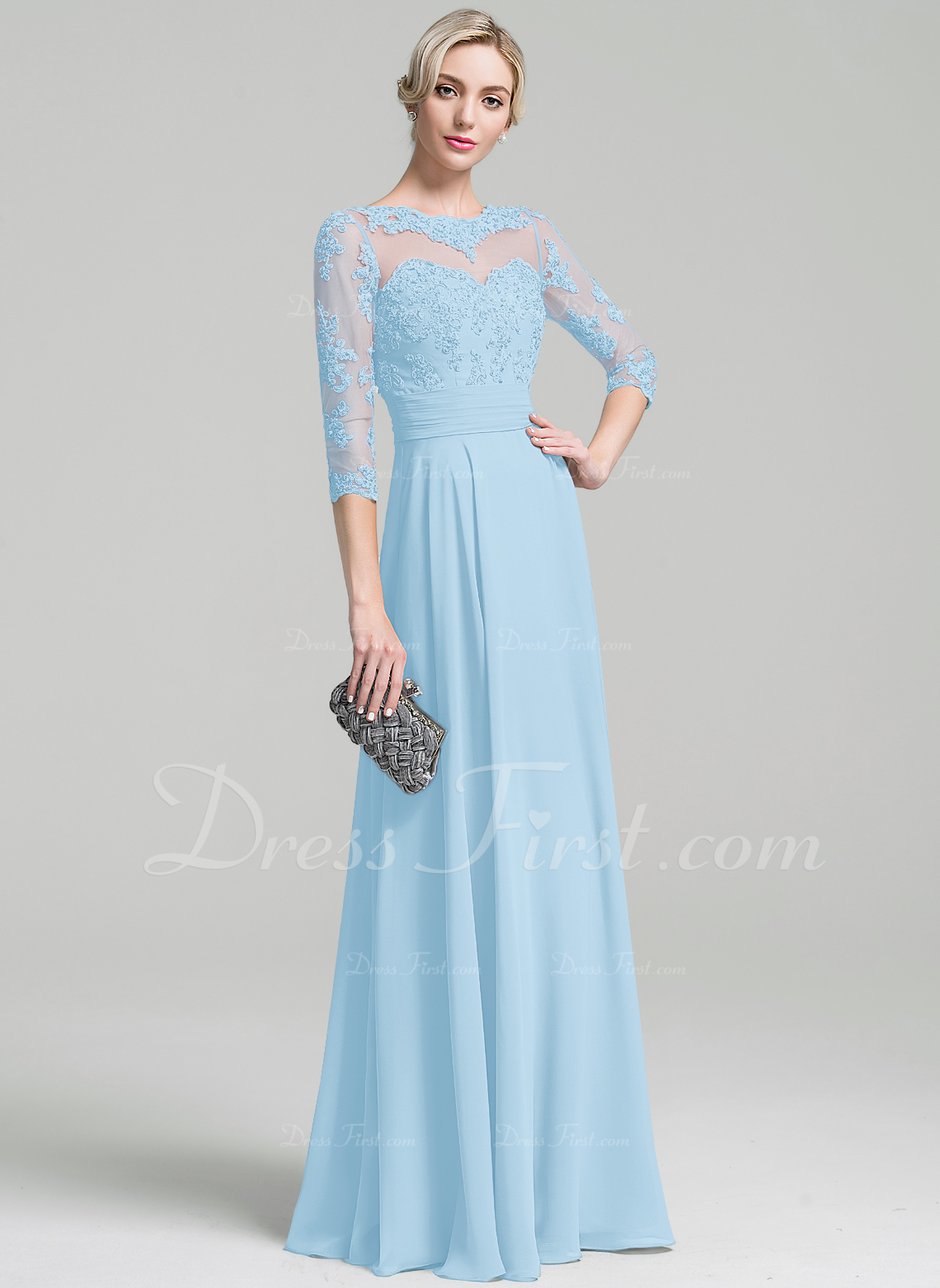 dec16040c20a1 Mother of the Bride Dresses   91948. Loading zoom. Loading. A-Line Princess  Scoop Neck Floor-Length Chiffon ...