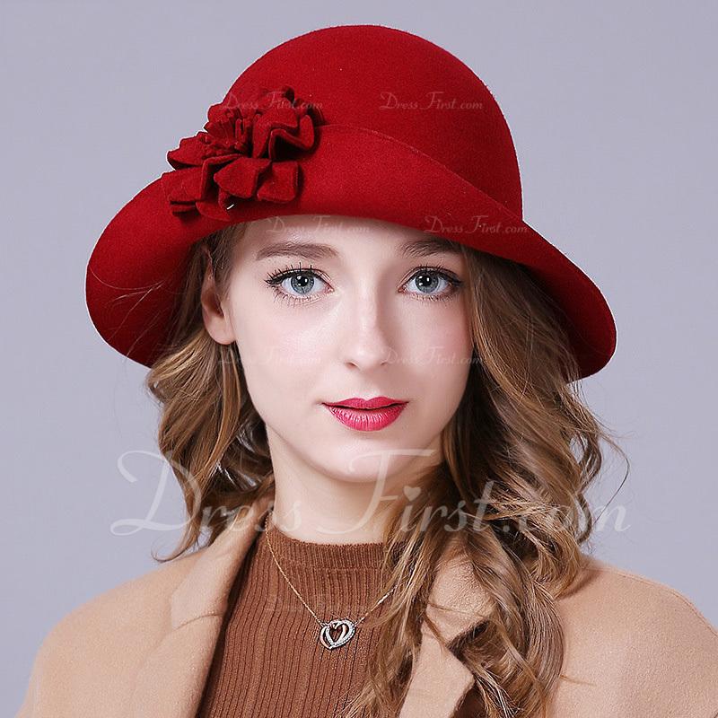Ladies' Glamourous/エレガント/シンプル ウール とともに 花 フロッピー帽子