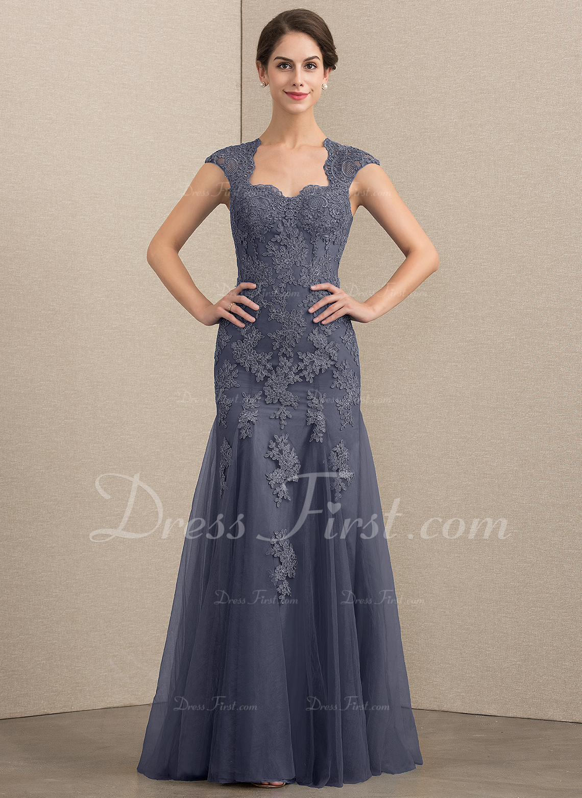 Trumpet/Mermaid Sweetheart Floor-Length Tulle Lace Mother of the Bride Dress