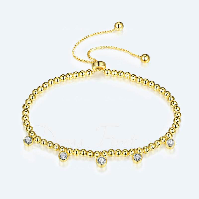 Piedra moldeada Bracelets De Charme Bracelets Bolo con Cubic zirconia -