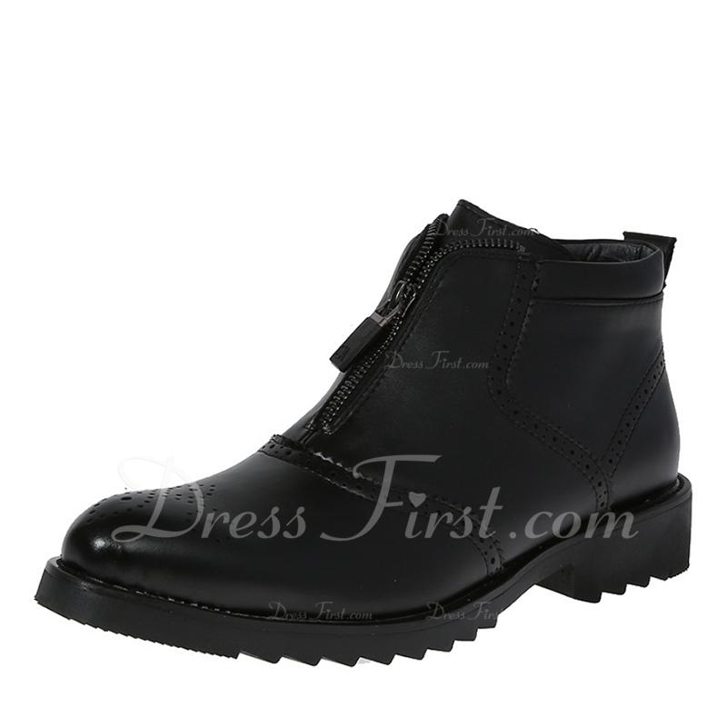 27f4a78b0 [NOK 472] Menn Lær Chelsea Avslappet Boots til herre - JJsHouse