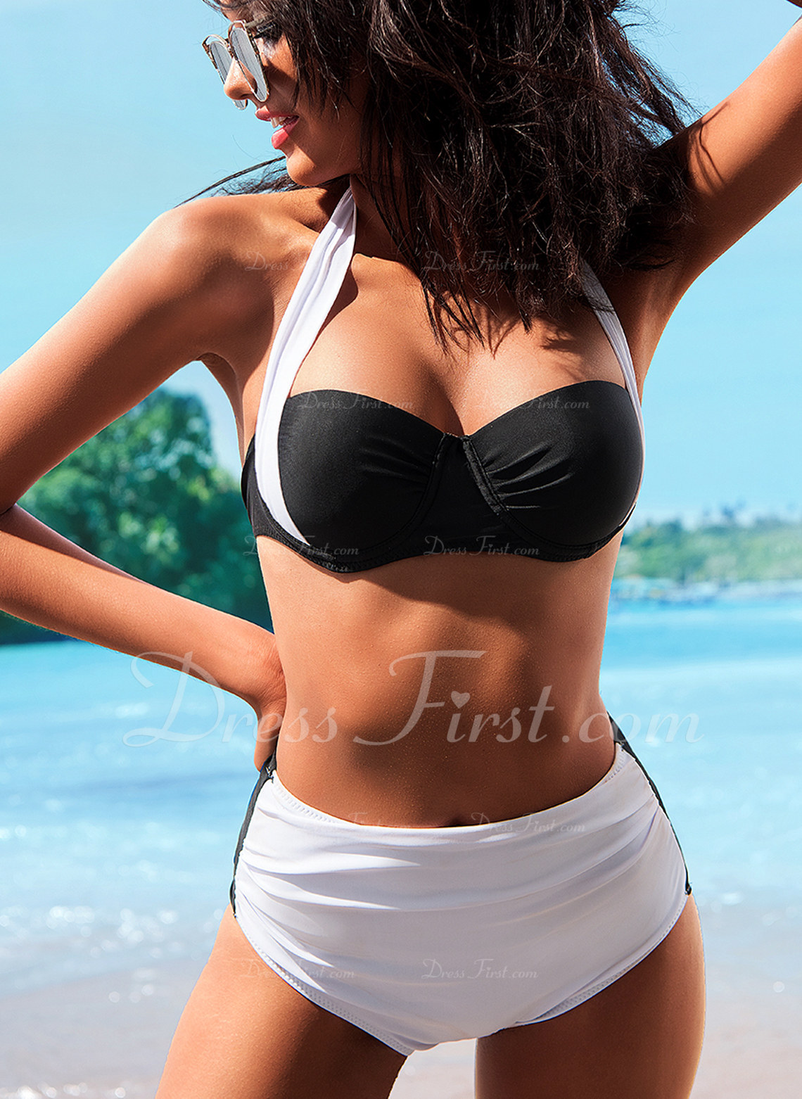 Bikinis poliéster Cintura Baja De mujer Sí Ropa de baño