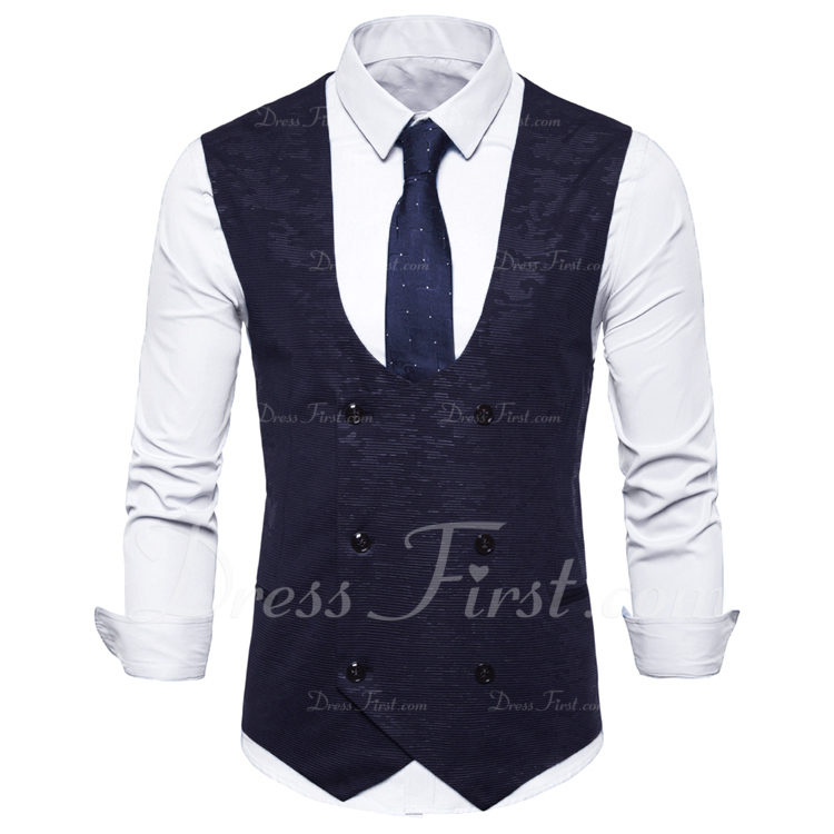modern linnen Heren vest