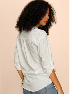 Floreale Scollatura a V Maniche lunghe Casuale Elegante Shirt and Blouses