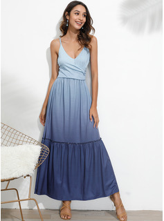 A-line Spaghetti Straps Polyester Dresses