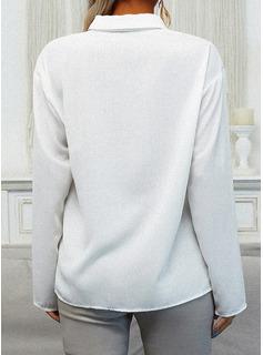 Tierdruckmuster Revers Lange Ärmel Mit Knöpfen Lässige Kleidung Hemd Blusen