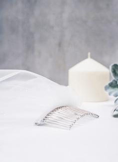 1 couche Bord de coupe Voiles de cage à oiseaux avec De faux pearl