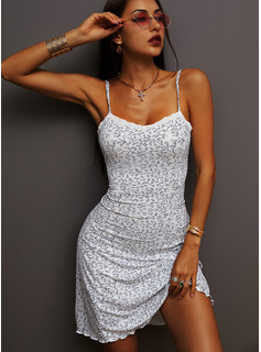Floral Lace Print Sheath Sleeveless Mini Casual Vacation Type Dresses