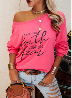 Figure Print One Shoulder Long Sleeves Casual T-shirt