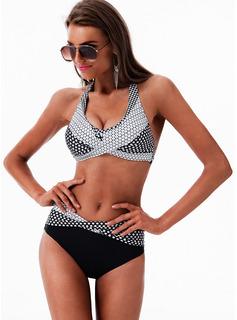 Bikinis Chinlon Poliester Kropka Dla kobiet tak Stroje kąpielowe