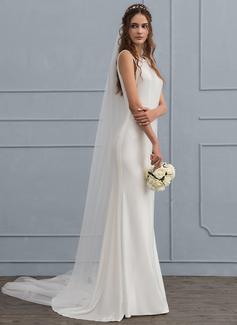 Forme Sirène/Trompette Col rond Balayage/Pinceau train Jersey Robe de mariée