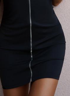 Solido Aderente Senza maniche Mini Sexy Vestiti di moda