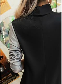 Print Shift Long Sleeves Midi Casual Tunic Dresses