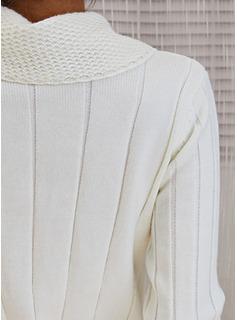 Rollkragen Lässige Kleidung Lange Eng Einfarbig Pullover
