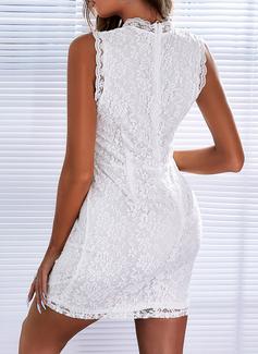 Sólido Ajustado Sin mangas Mini Elegante Vestidos de moda