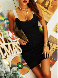 Sequins Bodycon Sleeveless Mini Party Sexy Dresses