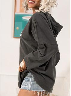 Print Long Sleeves Knit Blouses