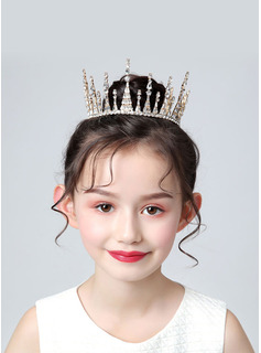 Alloy Tiaras With Rhinestones
