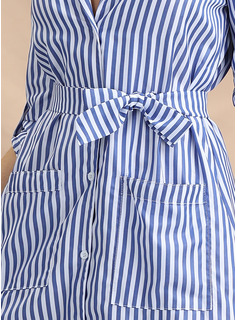 Poliester/Bawełna Z Przycisk/Wydrukować Asymetryczny Sukienka