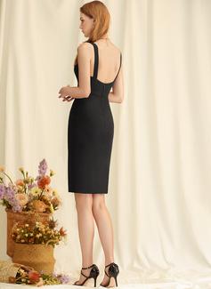 Sheath V-Neck Sleeveless Midi Back Details Sexy Dresses