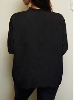 Figura Stampa Scollatura a V Maniche a pipistrello Maniche lunghe Casuale Reggiseno Tshirt
